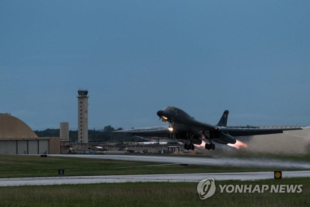 美军B-1B战略轰炸机(韩联社/美国太平洋空军司令部提供)