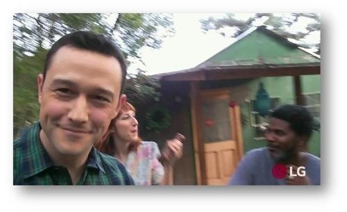 图为约瑟夫·高登-莱维特用V30拍摄的视频。(韩联社/LG电子提供)
