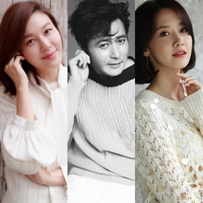 左起依次为演员金荷娜、张东健、林允儿(韩联社/釜山国际电影节提供)