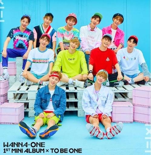 男团Wanna One社会网站Instagram截图
