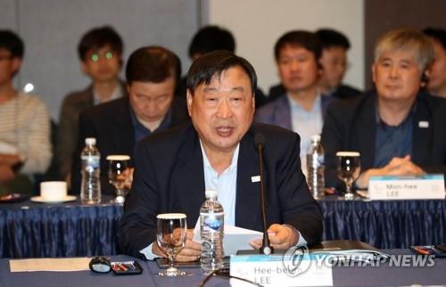 10月16日,在国际残奥委第九次项目评审会议上,李熙范发言。(韩联社)