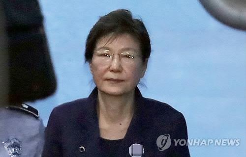 资料图片:朴槿惠出庭受审(韩联社)