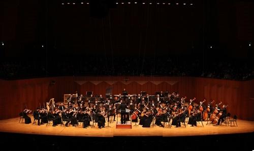 哈尔滨交响乐团在韩演出现场(韩中文化友好协会提供)