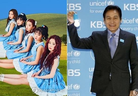 Red Velvet(左)和安圣基(韩联社)
