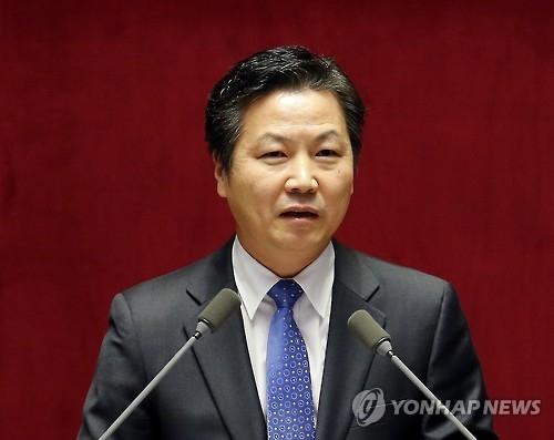 资料图片:中小风险企业部长官候选人洪锺学(韩联社)