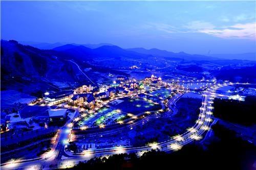 图为江原道平昌阿尔卑西亚度假村。(韩联社/首尔市政府提供)