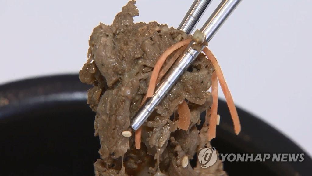 资料图片:韩式烤肉(韩联社TV提供)