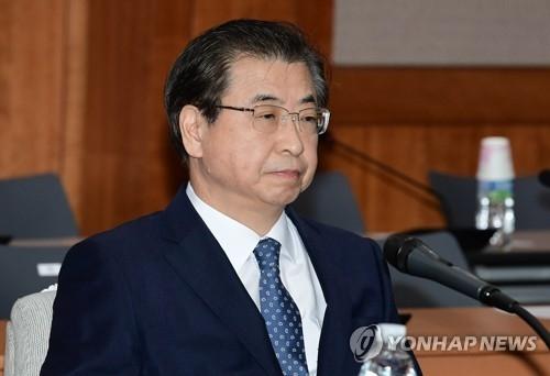 11月2日上午,在首尔市的国家情报院,徐薰等待接受国会的国政监查。(韩联社)