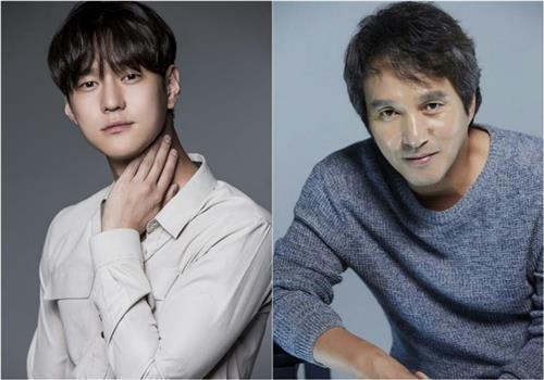 演员高庚杓(左)和曹在显(韩联社/各所属经纪公司提供)