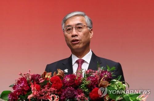 资料图片:中国驻韩大使邱国洪(韩联社)