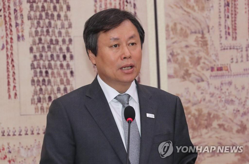 资料图片:韩国文化体育观光部长官都钟焕(韩联社)