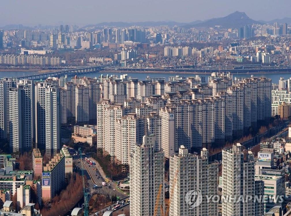 资料图片:首尔一住宅区(韩联社/首尔研究院提供)