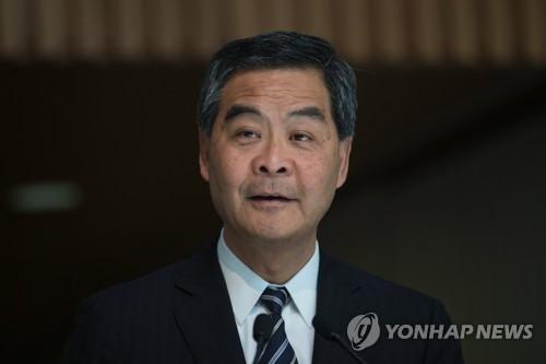 资料图片:中国全国政协副主席梁振英(韩联社)