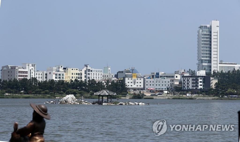 资料图片:江陵住宿设施(韩联社)