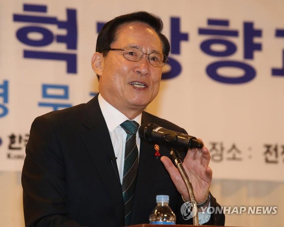 韩国防长宋永武(韩联社)