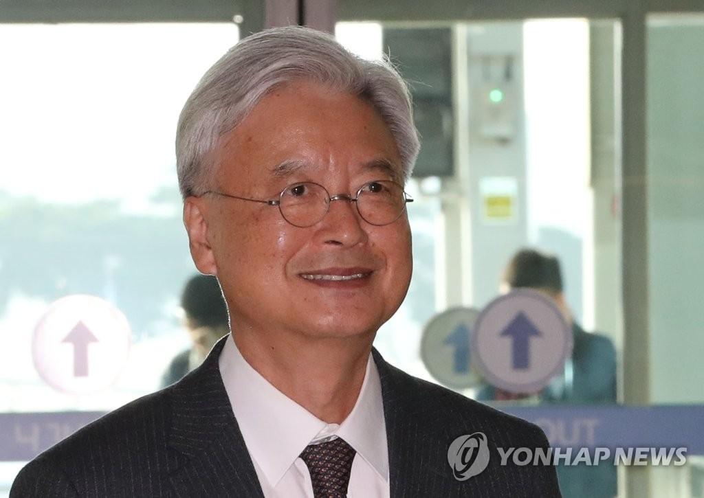 资料图片:韩国驻美大使赵润济 (韩联社)