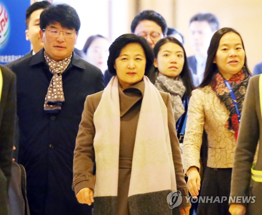资料图片:韩国执政的共同民主党党首秋美爱 (韩联社)
