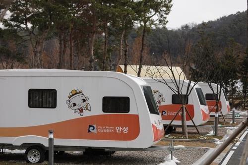 农乐表演场旁边的汽车露营场(韩联社记者成演在摄)