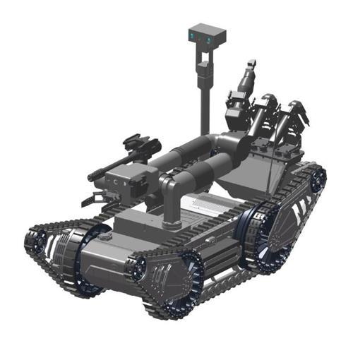 反恐防暴机器人外形(防卫厅提供)