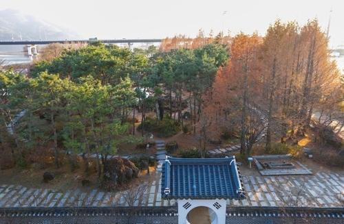 """收集270多种植物的杨平""""洗美园""""植物园(韩联社记者成演在摄)"""