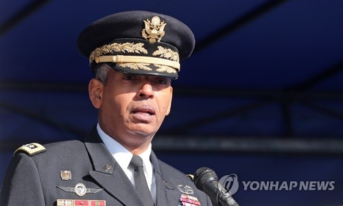 资料图片:韩美联合司令兼驻韩美军司令文森特·布鲁克斯(韩联社)