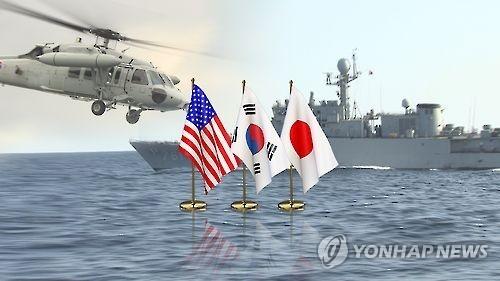 韩美日导弹预警演习(韩联社)