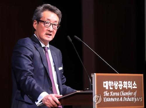资料图片:美国驻韩大使被提名人车维德 (韩联社)