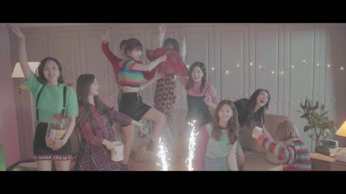 女团TWICE(韩联社/JYP提供)