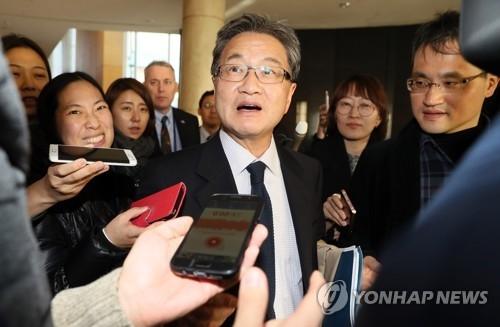 资料图片:六方会谈美国团长、美国国务院对朝政策特别代表约瑟夫·尹(韩联社)