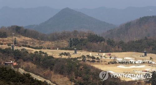 """位于韩国庆尚北道星州郡的驻韩美军""""萨德""""反导基地(韩联社)"""