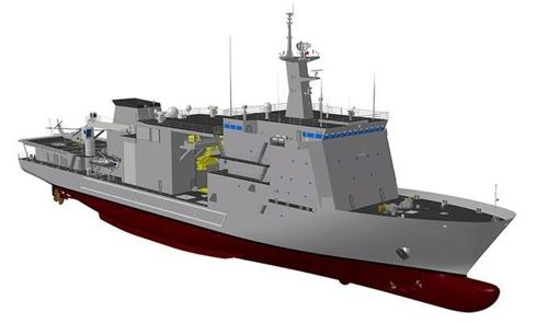 韩国新一代潜艇救援舰示意图(韩联社/韩防卫事业厅提供)