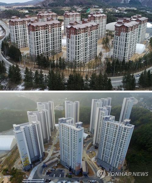 新建成的平昌奥林匹克村(韩联社)