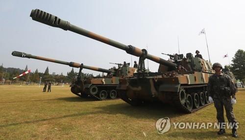 资料图片:K-9自行火炮(韩联社)