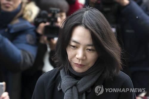 资料图片:前大韩航空公司副社长赵显娥(韩联社)