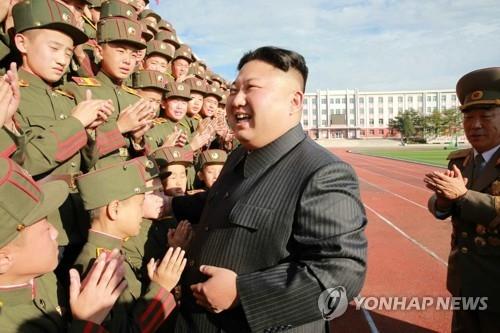 资料图片:朝鲜劳动党委员长金正恩(韩联社)