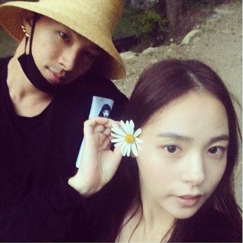 太阳和闵孝琳(太阳Instagram截图)