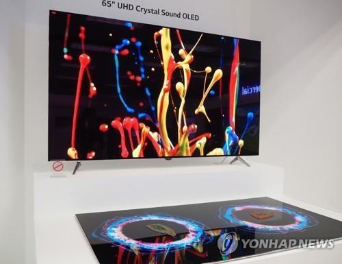 资料图片:LG电子OLED电视(韩联社)