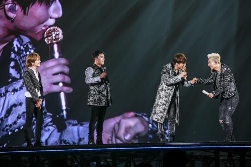 BIGBANG京瓷巨蛋演出现场(韩联社/YG提供)