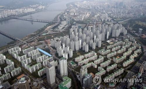 资料图片:政府收紧多套住宅者财路(韩联社)