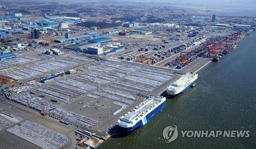 资料图片:平泽港全景(韩联社/平泽港湾公社提供)