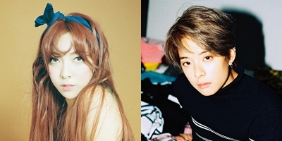 女团f(x)成员Luna(左)和Amber (官网图片)
