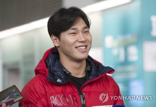 资料图片:韩国钢架雪车选手尹诚彬(韩联社)