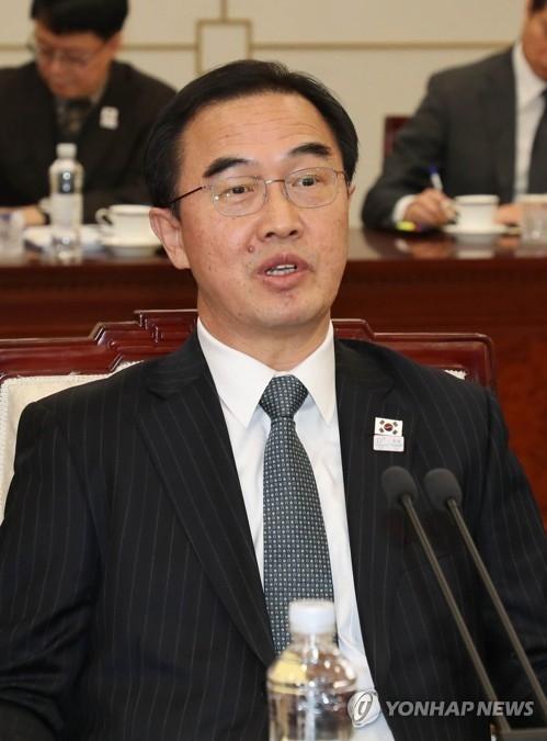 韩方团长赵明均(韩联社)
