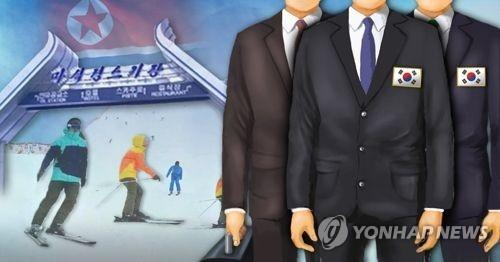 韩方先遣队将赴朝考察马息岭滑雪场。(韩联社)