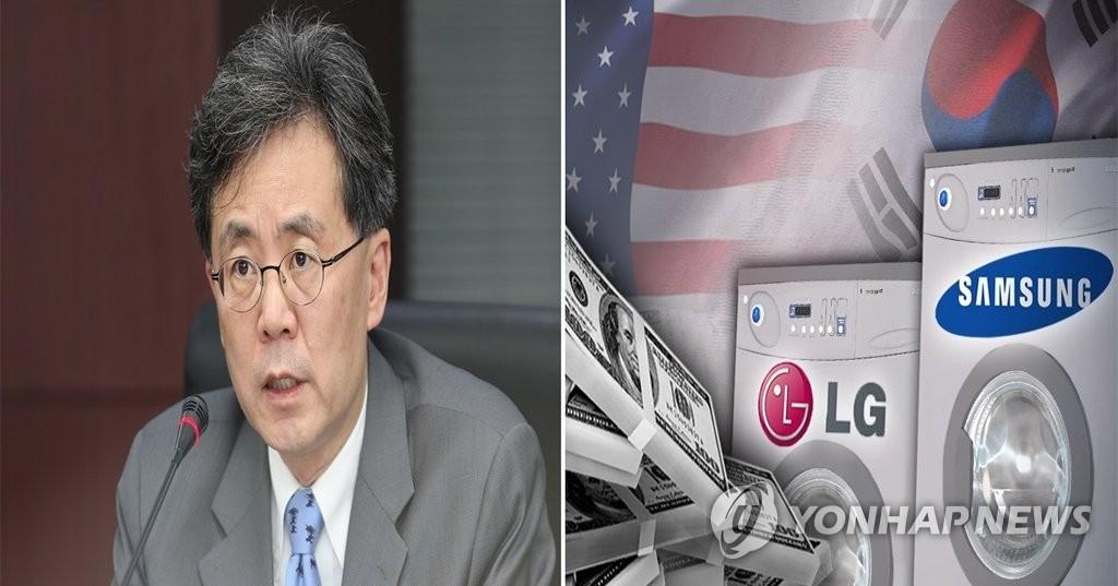 左为韩国产业通商资源部通商交涉本部长金铉宗。 (韩联社)