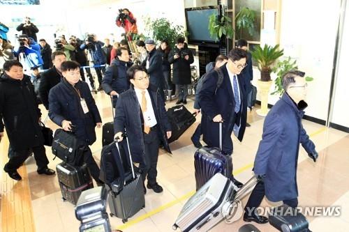 资料图片:韩国赴朝先遣队(韩联社)