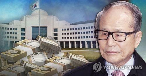 韩检方再传涉贿前总统李明博胞兄 - 1
