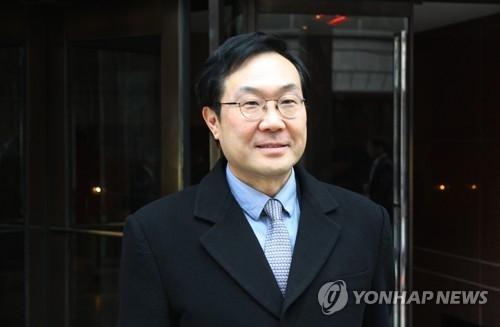 资料图片:韩国外交部韩半岛和平交涉本部长李度勋(韩联社)