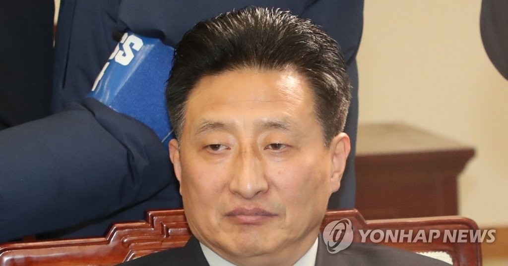 资料图片:朝鲜体育省副相元吉宇(韩联社/联合采访团)