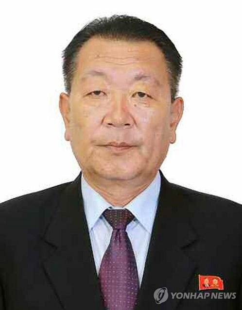资料图片:劳动党中央副委员长、国家体委委员长崔辉(韩联社)